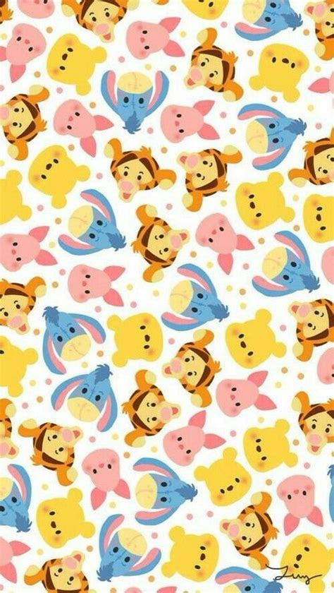 wallpaper iphone disney tsum tsum disney tsum tsum wallpaper background and pooh