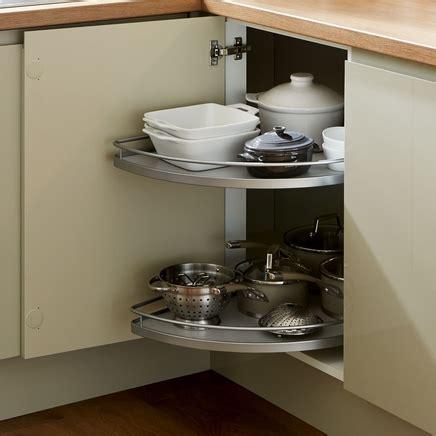 Half corner carousel   Kitchen storage solutions   Howdens