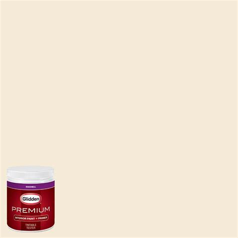 home depot paint analyzer glidden premium 8 oz hdgy09u shell white rm eggshell