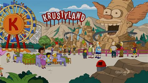 theme park owned by a television clown on the simpsons krustyland simpsons wiki