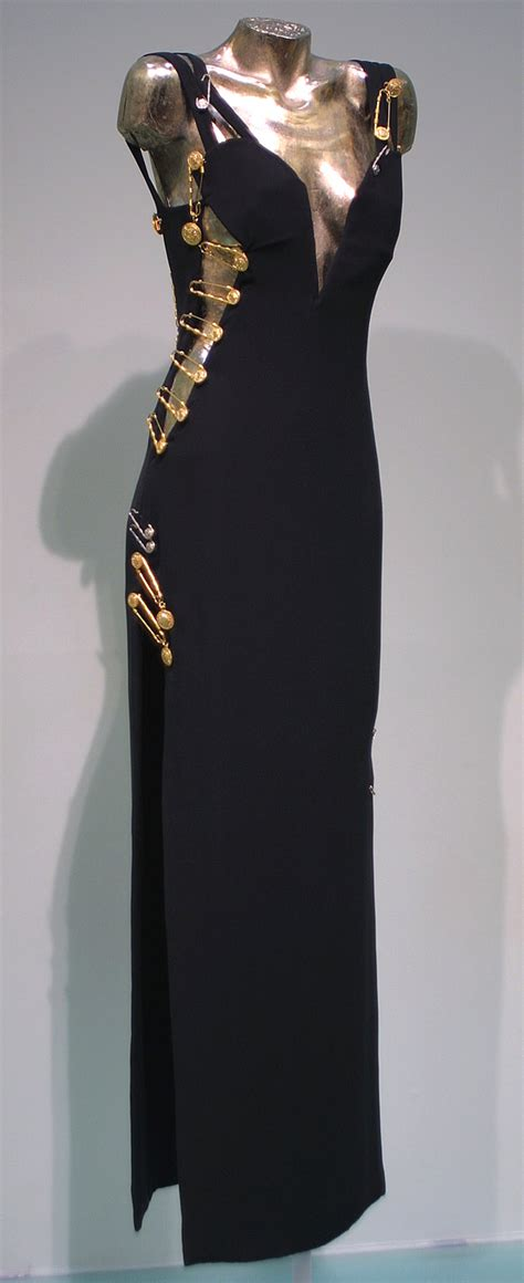 Buy Elizabeth Hurleys Safety Pin Versace Dress by Gianni Versace And Albert Museum