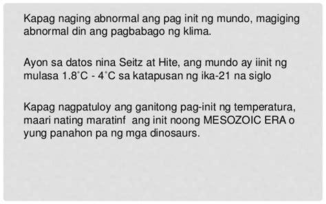 Katapusan Ng Mundo Essay by Grade 10 Aralin 2 Ang Kapaligiran At Ang Climate Change