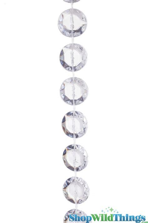 Diamond crystal non iridescent beaded curtain 24 feet long wedding and major event decorations