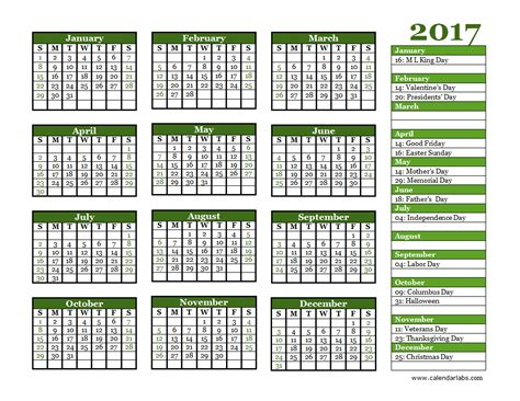 2017 calendar printable one page download image full size pdf