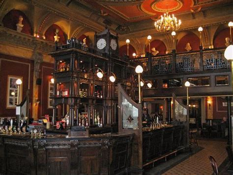 Victorian Interiors the very large central bar picture of the old joint
