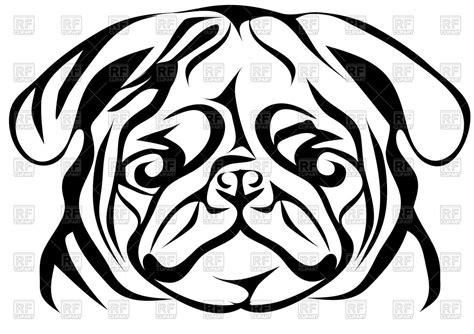 pug clip free pug portrait of royalty free vector clip image 91135 rfclipart
