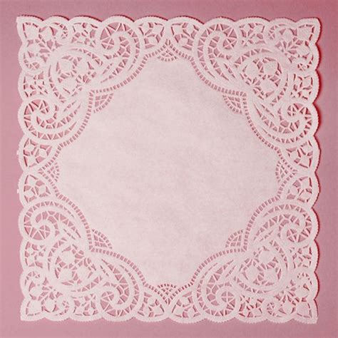 How To Make Paper Lace Doilies - 25 lace paper doilies square 10 inch