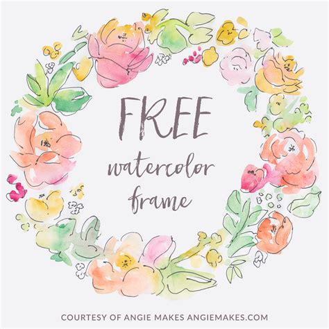free printable watercolour flowers free watercolor flower frame angiemakes com
