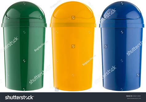 colored trash cans colored plastic selective trash cans green for glass