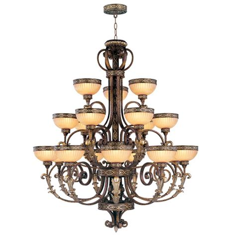 Chandelier Ceiling L Seville Palacial Bronze Foyer 18 L Chandelier Ceiling Lighting Fixture 8539 64