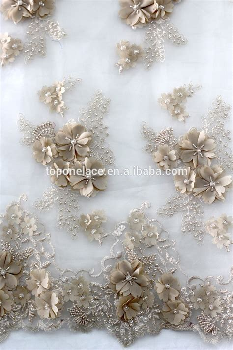 net french embroidery beaded sequin lace fabric for ladies suit hand made wedding dress lace fabrics beaded sequins french