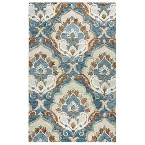Leons Area Rugs Rizzy Home Blue Beige 8 Ft X 10 Ft Area Rug Lenlo999200090810 The Home Depot