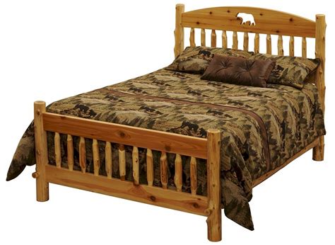 cedar beds cedar lake silhouette cutout log bed minnesota cedar log