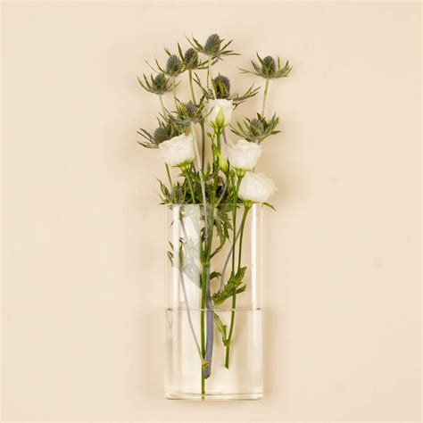Wall Vases by Rectangular Wall Mounted Glass Vase By Dibor