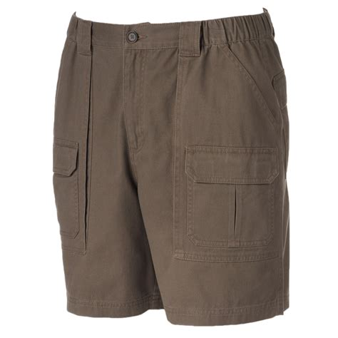 mens comfort waist shorts croft barrow mens size 36 comfort waist cargo shorts