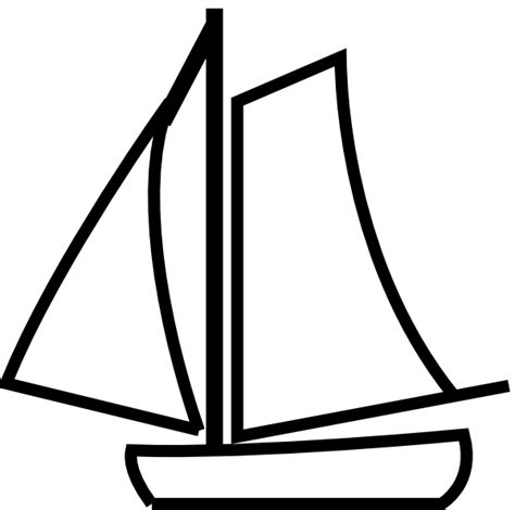 boat cartoon images black and white sailing boat white clip art at clker vector clip art