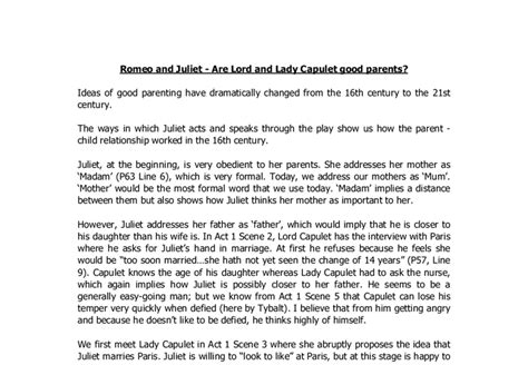 Romeo Changes Essay by Essay On Lord Capulet In Romeo And
