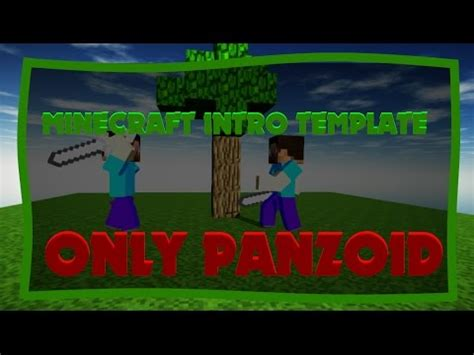 Minecraft Intro Template Panzoid Only Ik Bad Download In Desc Youtube Minecraft Intro Template