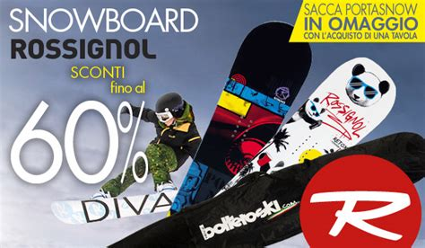 tavole da snowboard scontate snowboard rossignol un altra offerta da non perdere