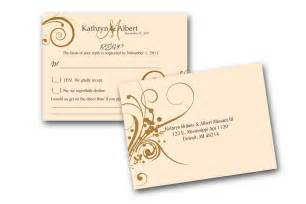 response cards for wedding invitations sle rsvp cards to match wedding invitations a by gwenmariedesigns