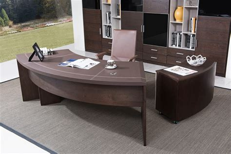 Contemporary Office Furniture Desk by Modern Executive Office Desk With Cabinet In Oak Wood
