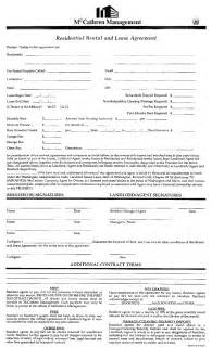 blank apartment lease agreement