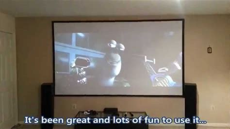 how to make a diy home theater projector and 50 quot screen diy home theater projector screen black felt tape border