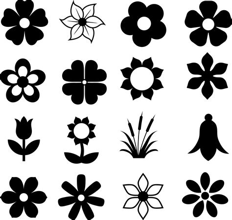 flower pattern vector png flower silhouette svg best flowers and rose 2017