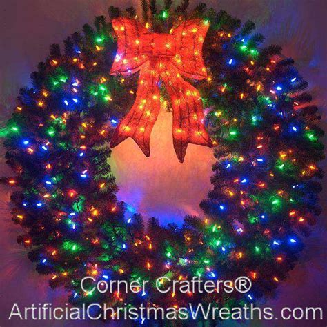 60 inch color changing l e d lighted christmas wreath