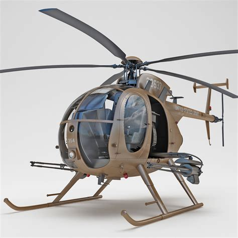 Kaos 4d Versi 6 Helicopter 4d ah 6 bird helicopter 3d model