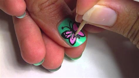 easy nail art butterfly butterfly nail art youtube