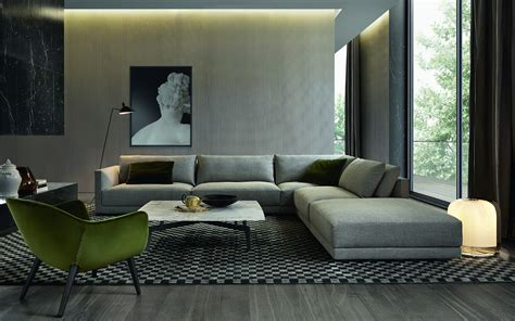 Contemporary Living Room Sofas Bagno Sasso Mobili Furniture Poliform