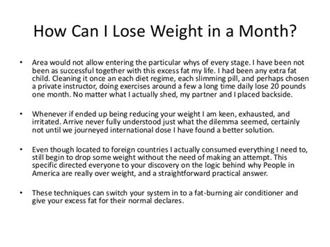 how to lose weight in one month at home in 2013