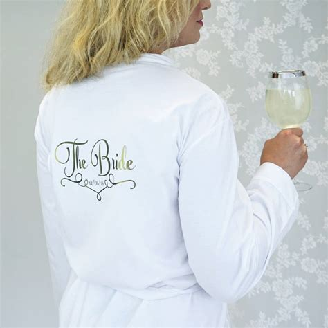 Wedding Dressing Gowns by Personalised Wedding Dressing Gown For A Bridesmaid By