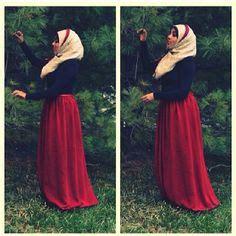 Maxi Selika muslima on hijabs styles and fashion