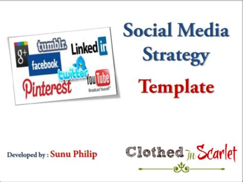 social media strategy template free images