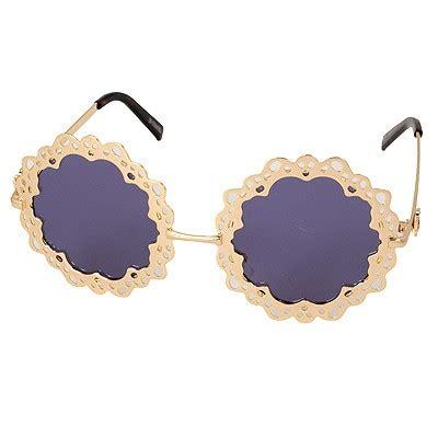 Kacamata Hollow Out Flower Shape Frame Design hemming gold color hollow out flower shape frame design asujewelry