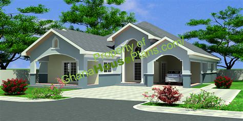 Open Two Story Floor Plans by Ghana House Plans Maame House Plan