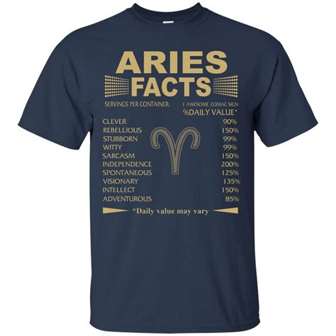 aries facts t shirt interesting facts about aries zodiac