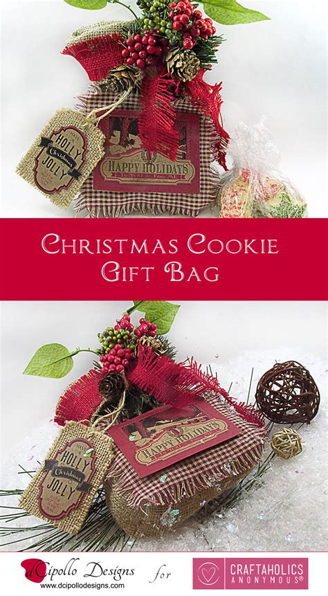 craftaholics anonymous christmas cookie gift bag