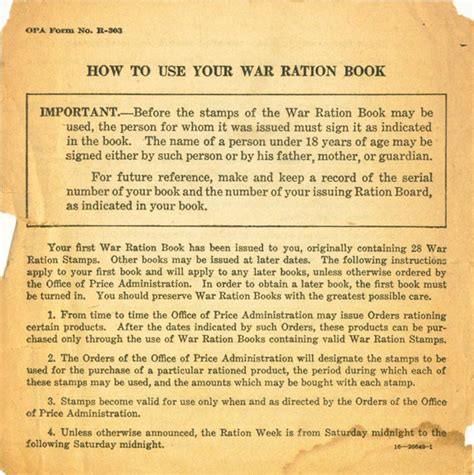 how to your books how to use your war ration book one