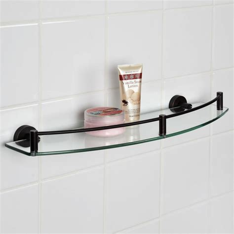 Small Bathroom Shelf | bathroom glass shelves design home decorations two