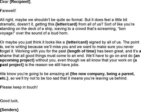 farewell letter to coworkers best 25 goodbye letter to colleagues ideas on