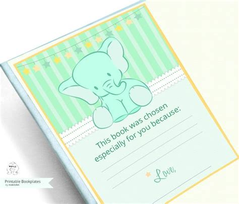 Baby Shower Bookplate Template Printable Bookplates Baby Shower Bookplates Book
