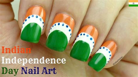nail art tutorial in hindi indian independence day nail art tutorial very easy