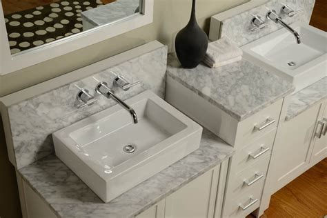 wall mounted marble sink 84 quot horizon double vanity sink console with pearl white