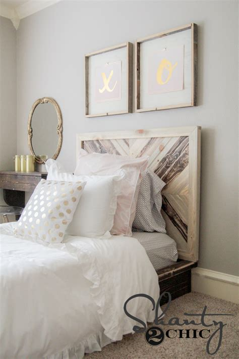 diy headboard for kids diy twin platform chevron bed shanty 2 chic
