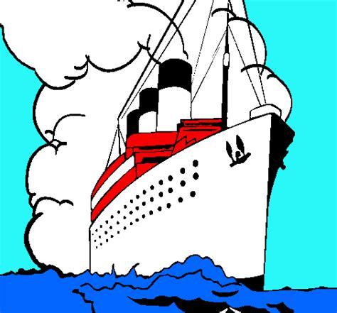 dibujo barco titanic para colorear el titanic para dibujar imagui