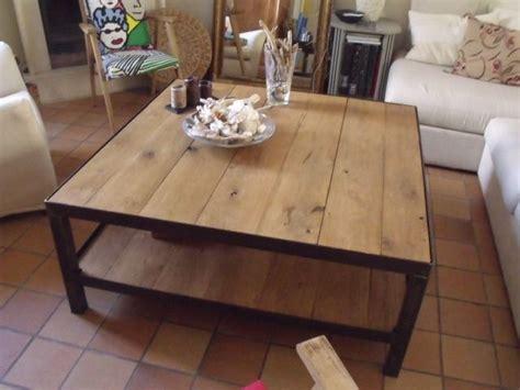 Table De Salon Industrielle 1237 by Table De Salon Design Bois M 233 Tal Table Basse Style