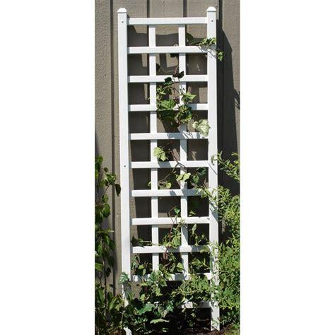 Shop Garden Trellis Shop Dura Trel 22 In W X 75 In H White Craftsman Mission